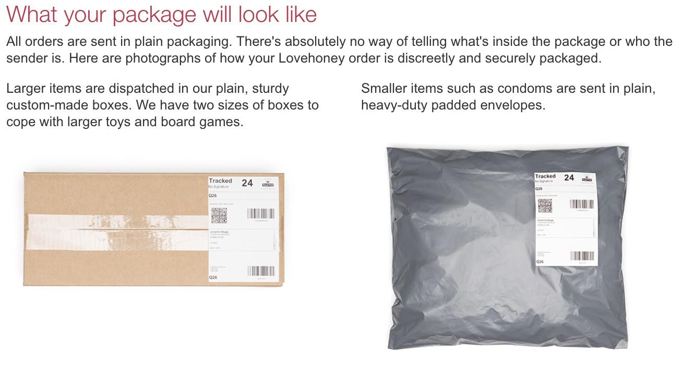 lovehoney shipping discretion