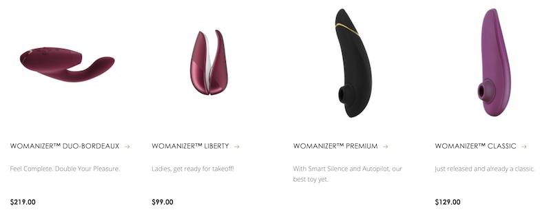 womanizer sex toy collection