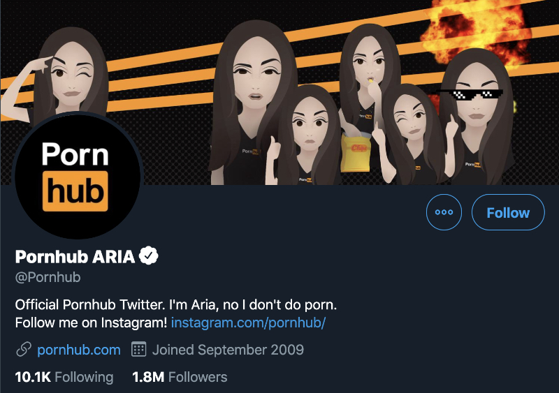 pornhub on twitter