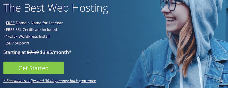 register your domain on BlueHost