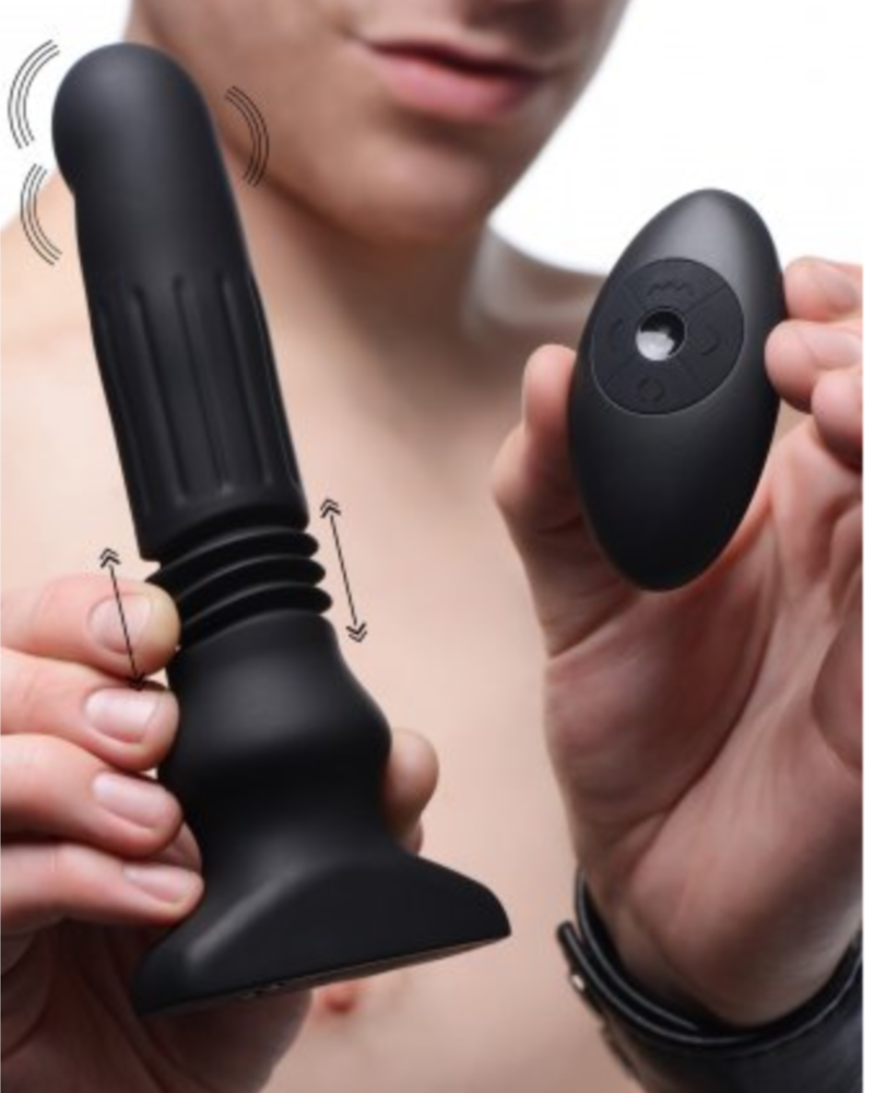 Swelling & Thrusting Silicone Plug With Remote Control