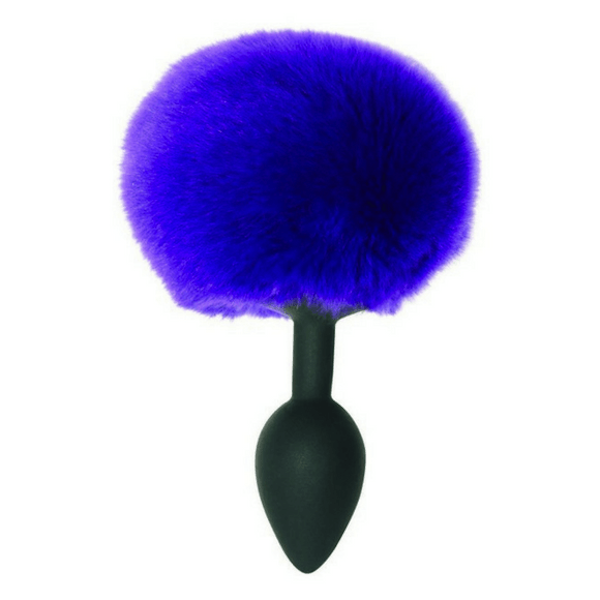 Sport Sheets - Midnight Silicone Bunny Tail Butt Plug