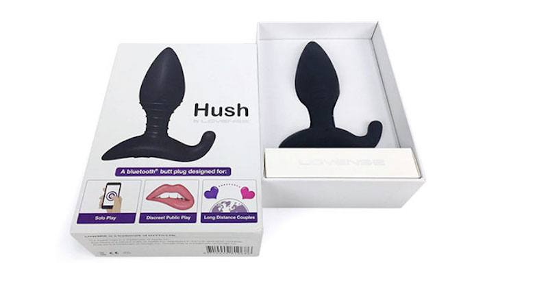 the lovense hush shipping box